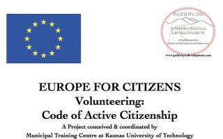 V-code: Volunteering Code of Active Citizenship